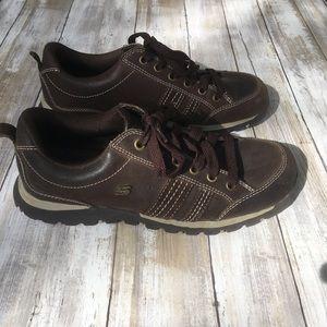 Skechers Grand Jams Brown Leather Sneakers